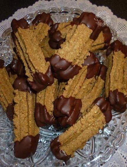 Biscuits el Mouhgen aux Noisettes et Chocolat ou Biscuits à l'Embout