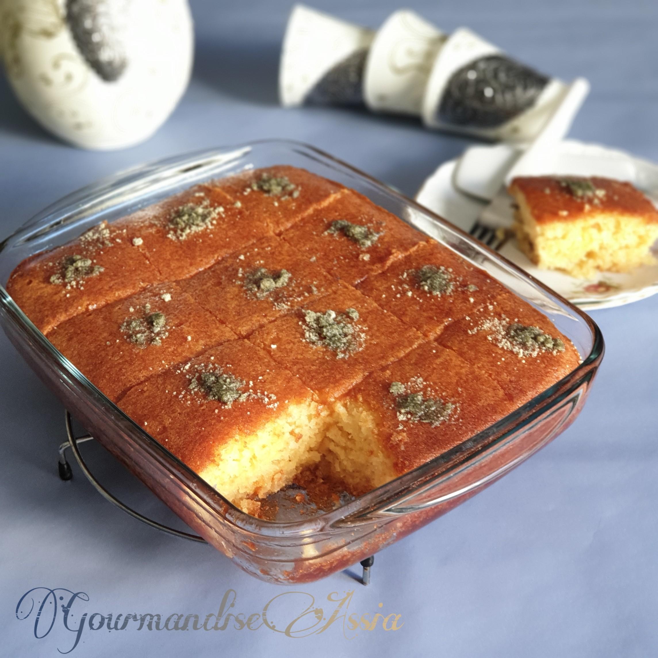 Basboussa, Ramadan , revani, recette,facile, Algérie, gâteaux,algériens,  recette,rapide
