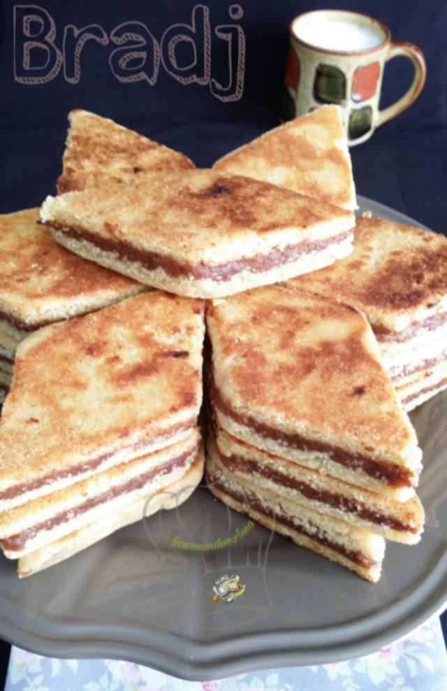 Bradj Gâteau à la Semoule aux Dattes