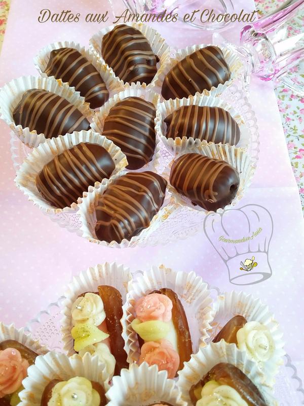 Dattes Fourrées aux Amandes et Chocolat