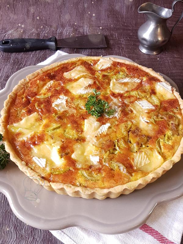 Tarte à la Courgette au Camembert