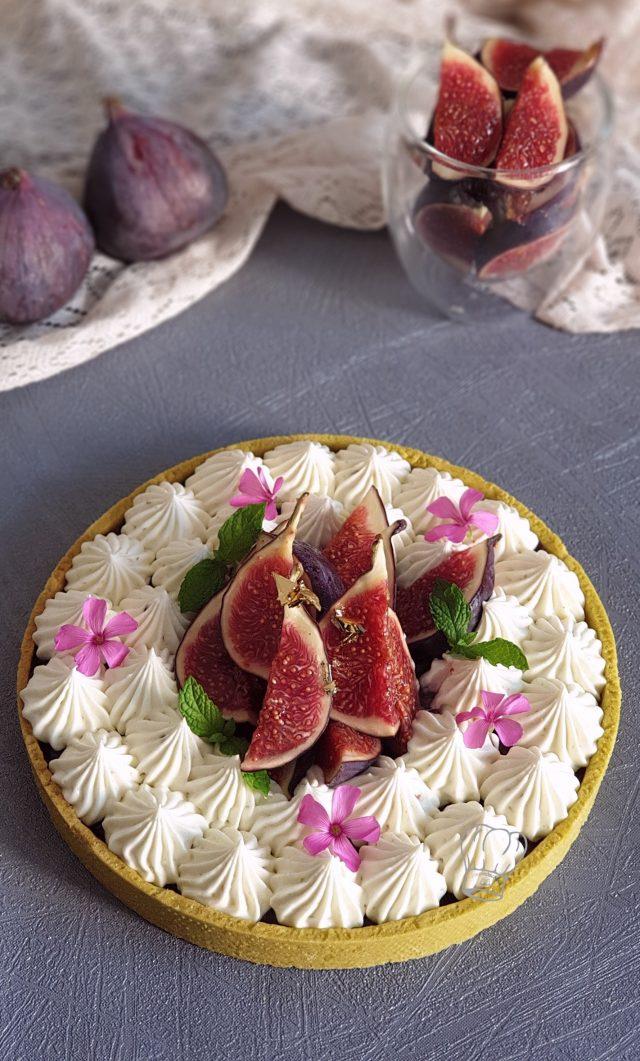 Tarte au Chocolat Blanc aux Prunes et Figues