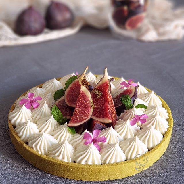 Tarte Ganache Chocolat Blanc aux Prunes