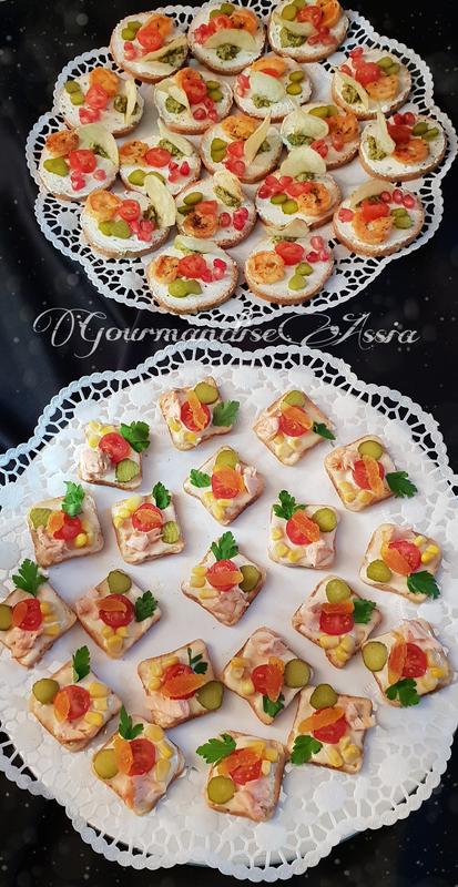 Amuse Bouche Ou Canapes A La Mayonnaise Et Pesto Maison Gourmandise Assia