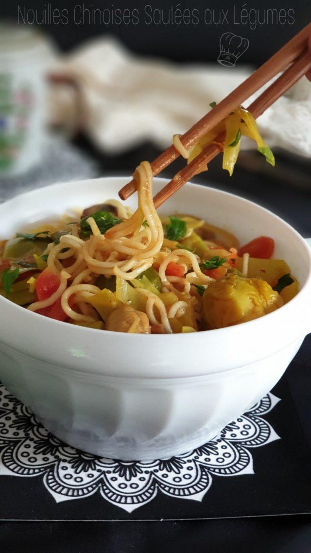 recette Nouilles Chinoises Sautées aux Légumes