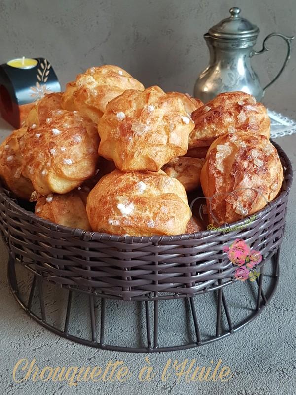 Chouquette a l'Huile à la Pâte à Choux sans Beurre