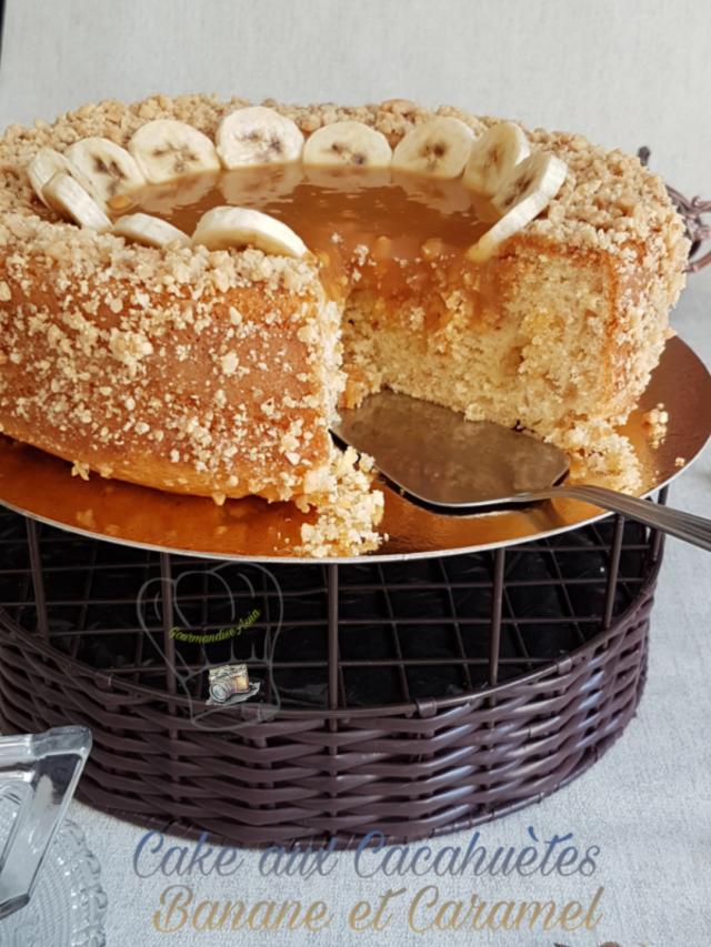 Cake aux Cacahuètes Banane et Caramel