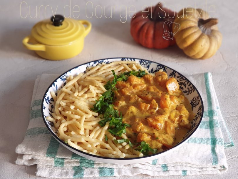 Curry de Courge et Spaetzle