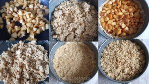 Tarte Streusel ou Sbriciolata aux Pommes et Noisettes