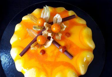 Entremets Carotte Orange Physalis