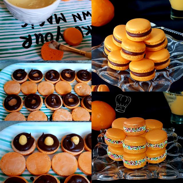 Macaron Orange Chocolat
