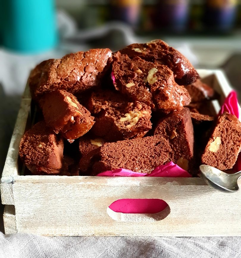Croquets ou Croquants au Chocolat et Noix