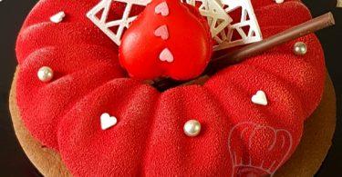 Entremets St Valentin