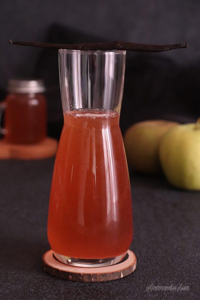 Sirop d'Épluchures de Pomme Vanille Maison