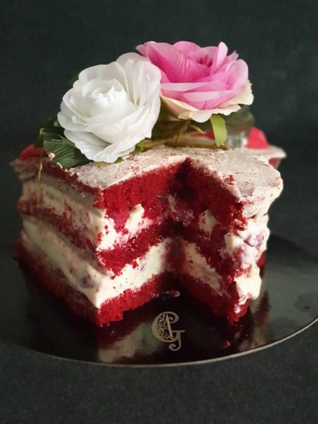 Red Velvet Naked Cake de St Valentin