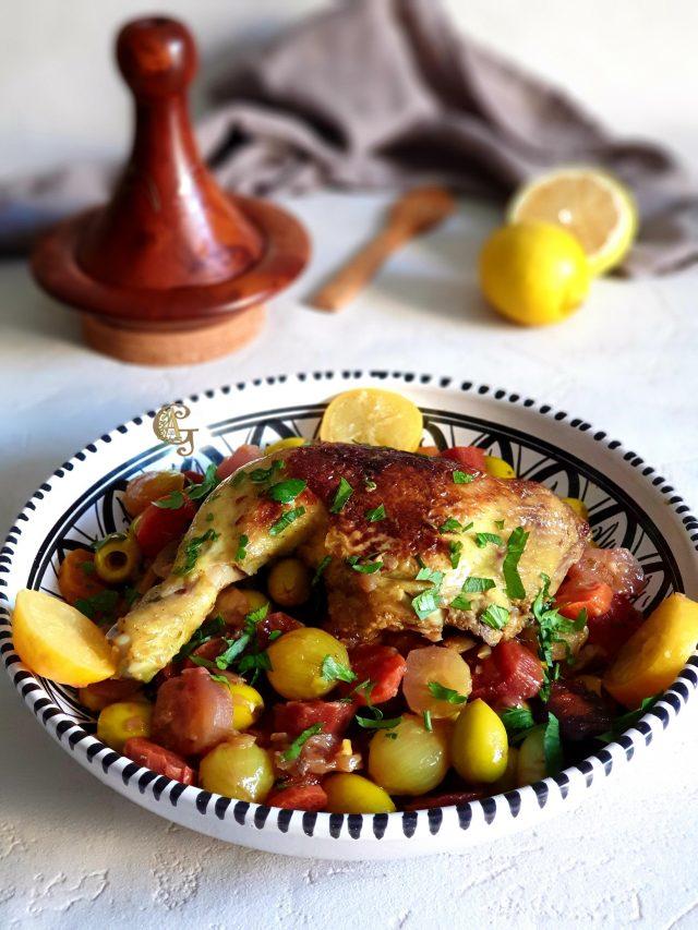 Tajine au Poulet Olive Carottes Multicolores