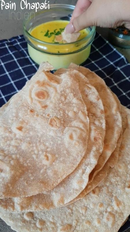 Pain Chapati Indien et Épices de Curry
