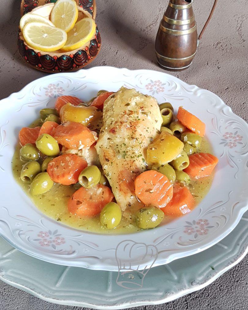 Tajine de Poulet aux Olives et Carotte Express