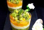 Verrines Kiwi et Orange
