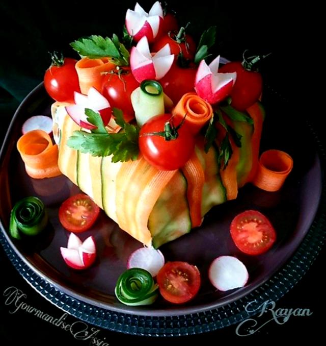 Sandwich Cake et Salade Jolie