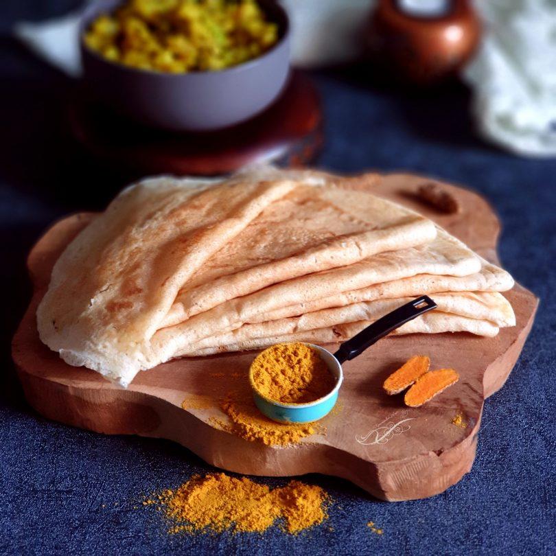 Dosa ou Crêpe Indienne et Curry de Pomme de Terre