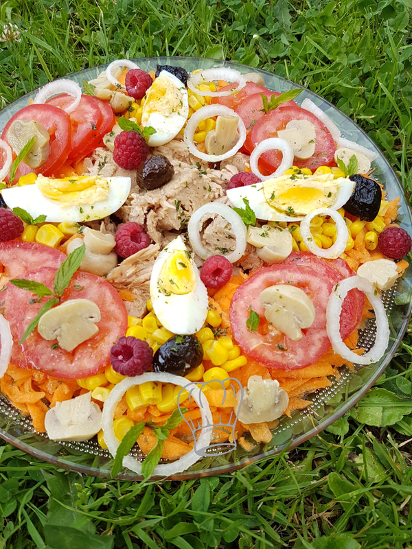 Salade Composée à la Framboise