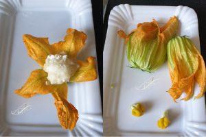 Beignets Fleur de Courgette Pomme de Terre et Feta
