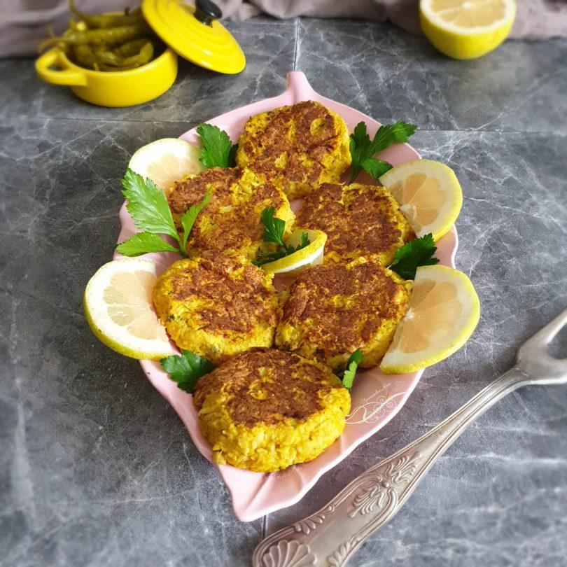 Galettes au Curry de Chou Fleur et Curcuma