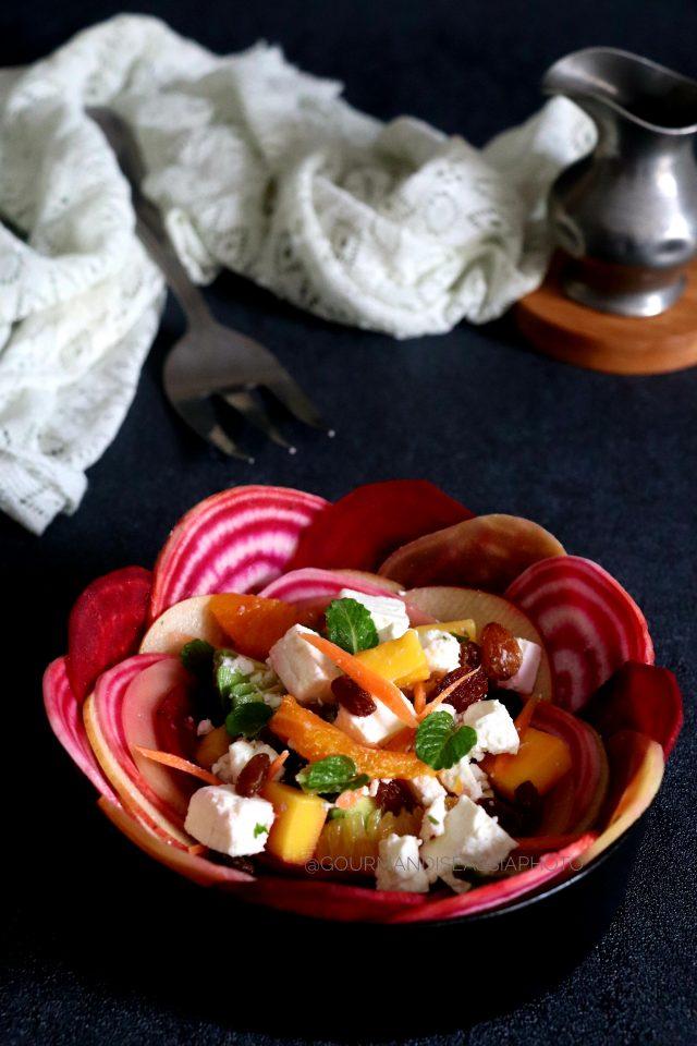Salade de Fruits Carotte Betteraves et Feta