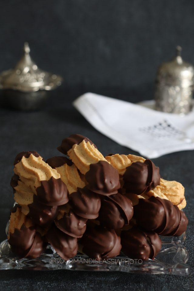 Halwat El Lambout au Chocolat {Biscuits Algériens}