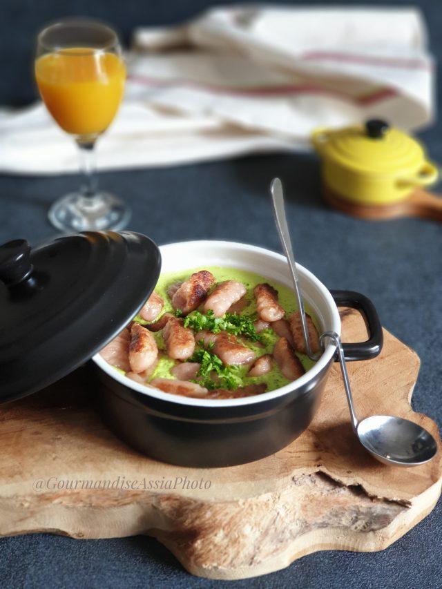 Curry de Coco Persillé aux Gnocchis à la Betterave