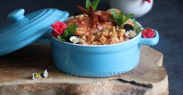 Crozets et Poulet en Sauce Tomate