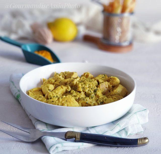 Poulet à la Sauje Citron et Curcuma