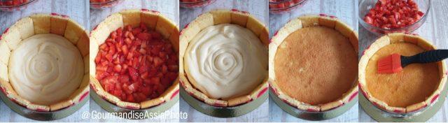 Enfourner à 180°C en chaleur tournante le biscuit rouge, 2 à 3 minutes le temps qu'il sèche.