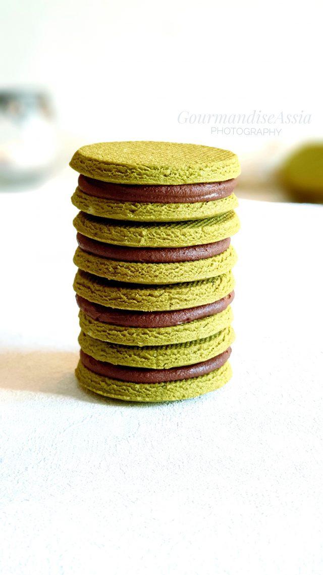 Sablés au Chocolat et Thé Matcha