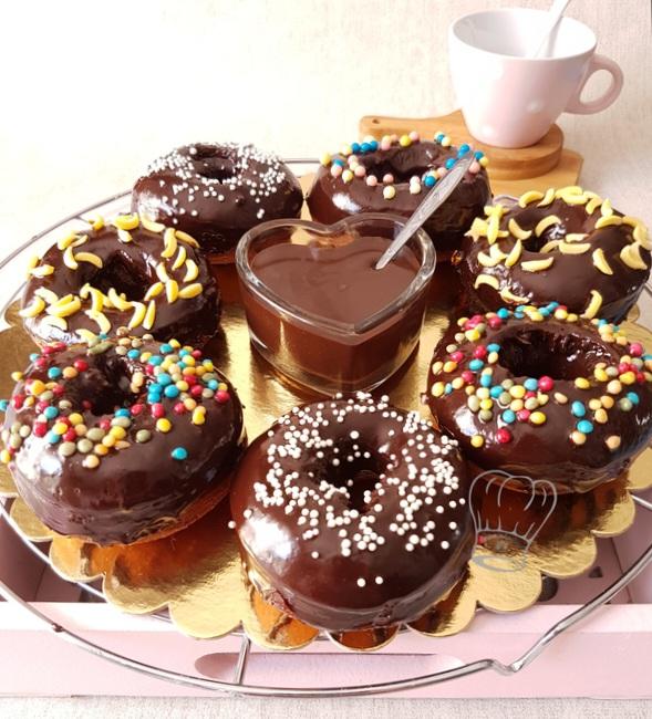 Donuts au Chocolat et Caramel au Beurre Salé