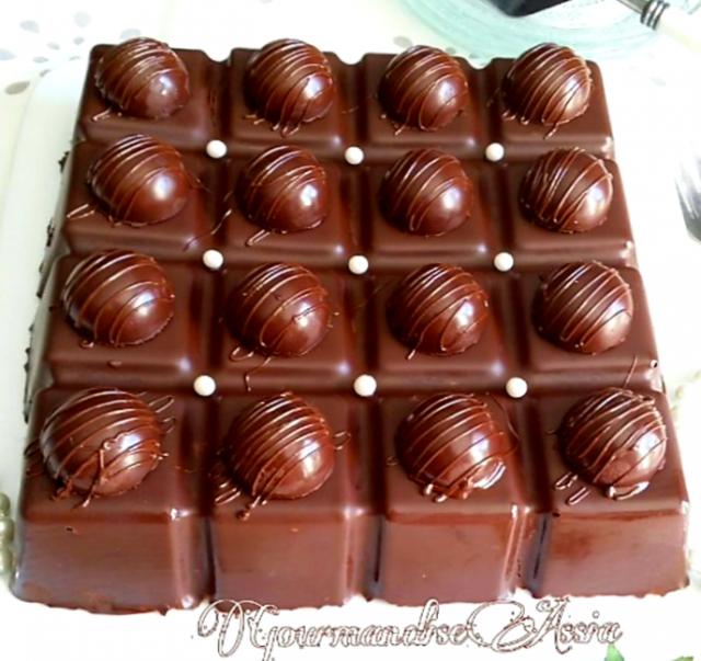 Tablette au Chocolat et Speculoos sans Cuisson