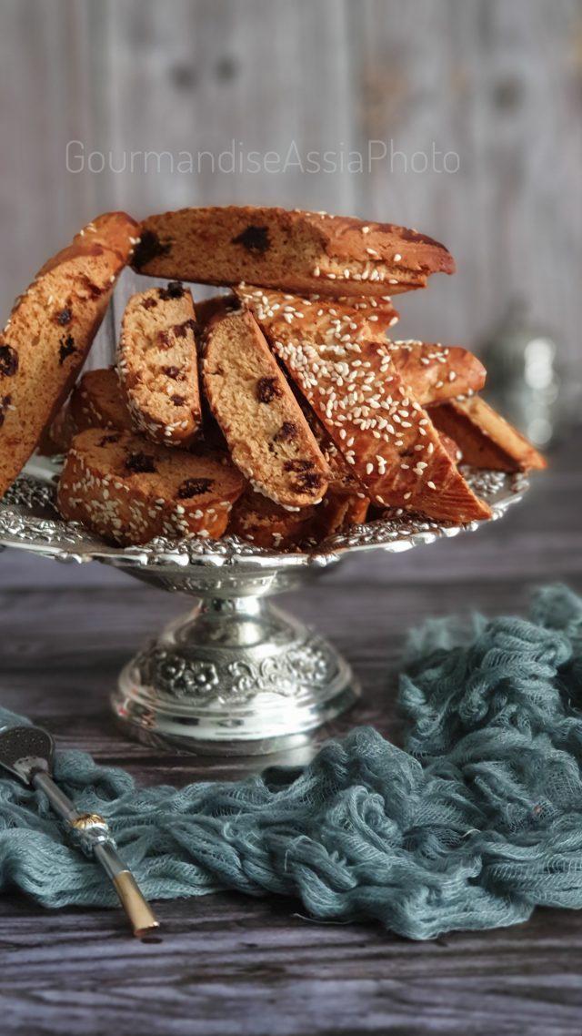 Croquants au Beurre de Cacahuètes et Raisins Secs