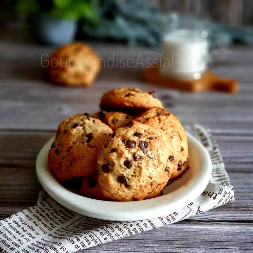 Cookies à la Banane Chocolat et Noix de Pécan