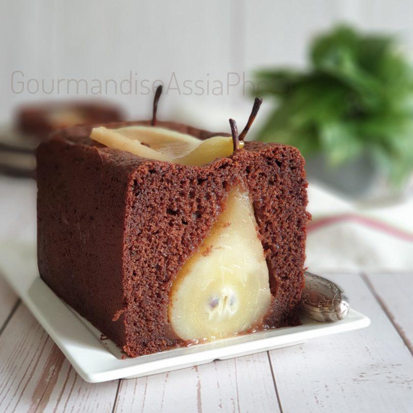 Cake Moelleux au Chocolat et Poire