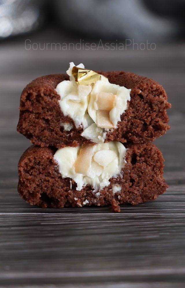 Financiers chocolat Noir et Chocolat Blanc et Noix de Coco