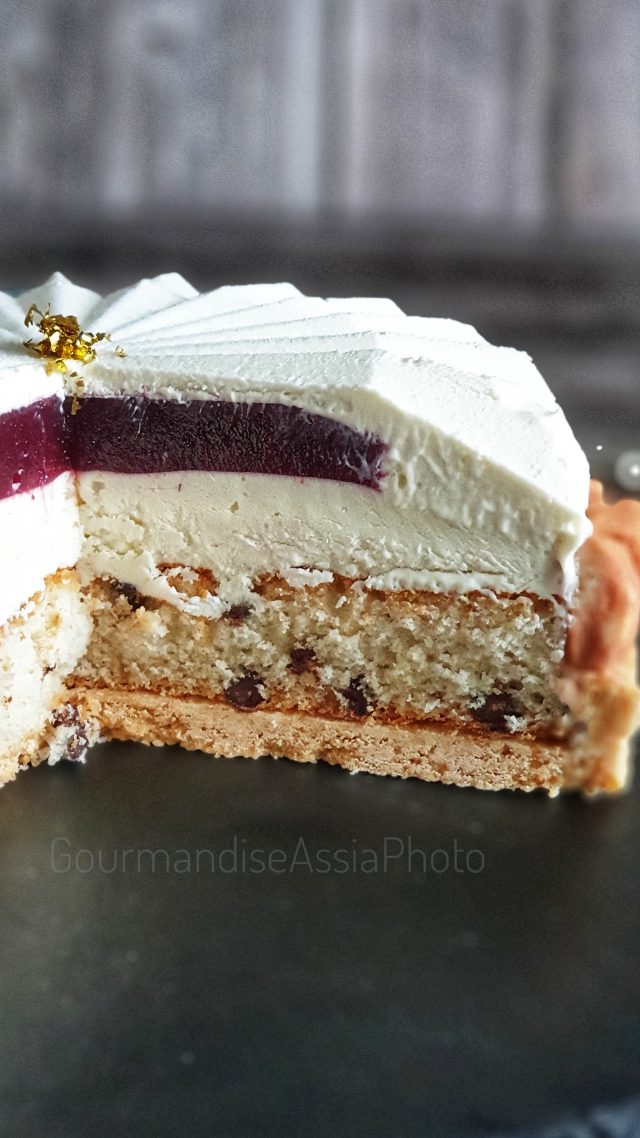 Tarte Entremets Chocolat Blanc Tonka et Framboise