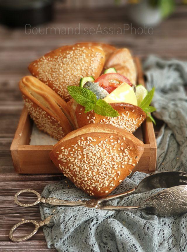 Pain Sandwich en Portefeuille {Cepli Sandviç Poğaça}