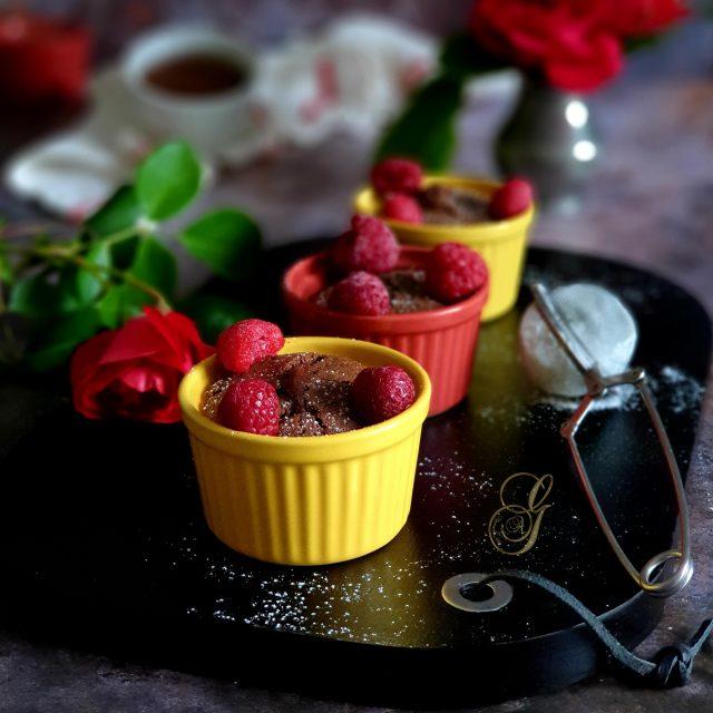 Fondant Coeur Coulant au Chocolat et Gianduja